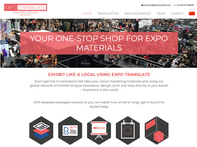 Expo Translate Home Page