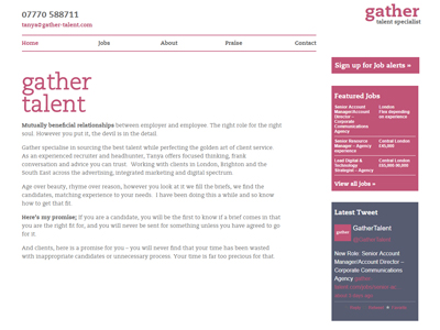 Gather Talent Home Page